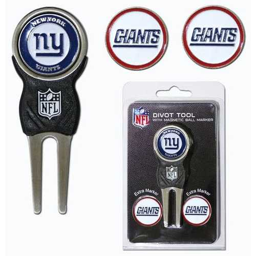 New York Giants Golf Divot Tool with 3 Markers