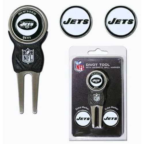 New York Jets Golf Divot Tool with 3 Markers Special Order