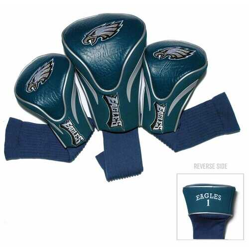 Philadelphia Eagles Golf Club 3 Piece Contour Headcover Set