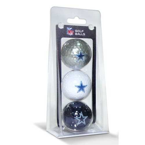 Dallas Cowboys 3 Pack of Golf Balls