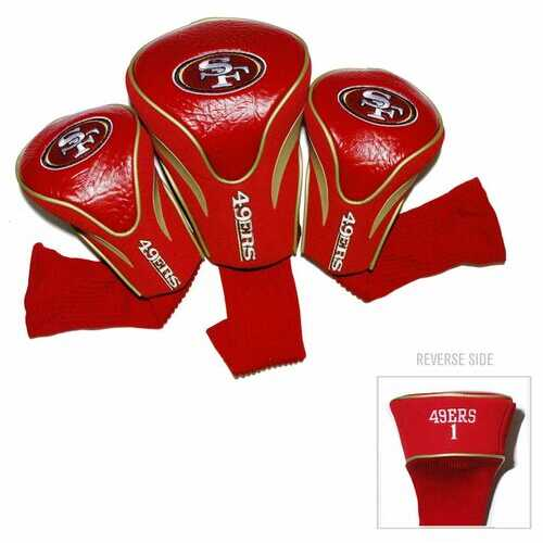 San Francisco 49ers Golf Club Headcover Set 3 Piece Contour Style