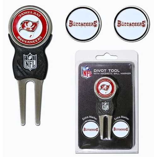 Tampa Bay Buccaneers Golf Divot Tool with 3 Markers Special Order