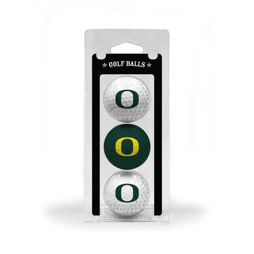 Oregon Ducks 3 Pack of Golf Balls