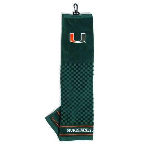 """Miami Hurricanes 16""""x22"""" Embroidered Golf Towel"""
