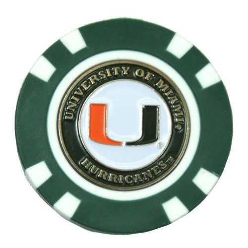 Miami Hurricanes Golf Chip with Marker - Bulk