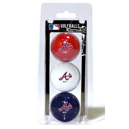 Atlanta Braves 3 Pack of Golf Balls Special Order