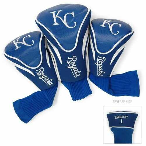 Kansas City Royals Golf Club 3 Piece Contour Headcover Set