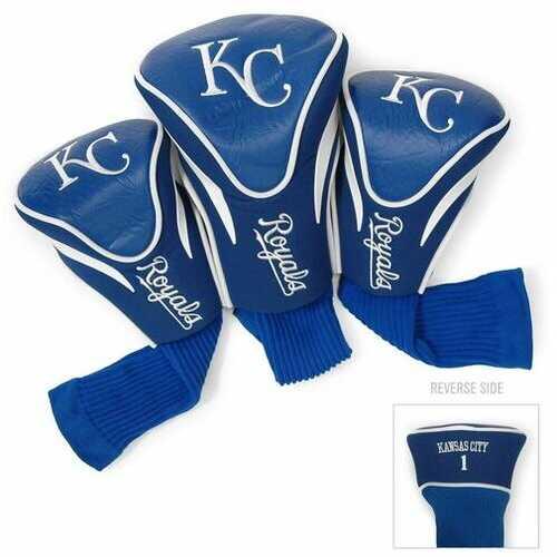 Kansas City Royals Golf Club 3 Piece Contour Headcover Set - Special Order