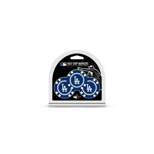 Los Angeles Dodgers Golf Chip with Marker 3 Pack