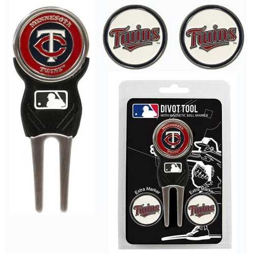 Minnesota Twins Golf Divot Tool with 3 Markers