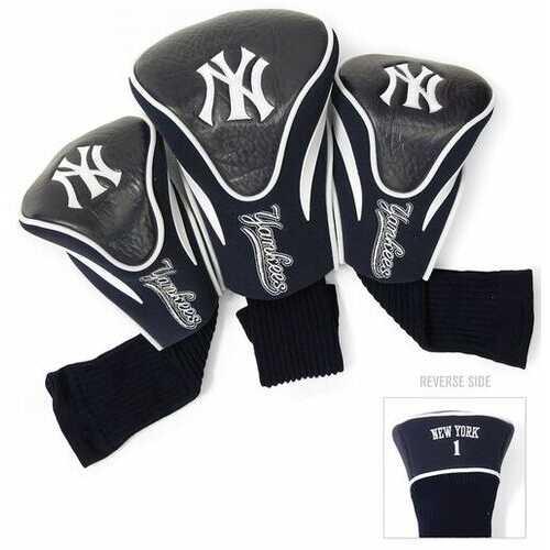 New York Yankees Golf Club 3 Piece Contour Headcover Set