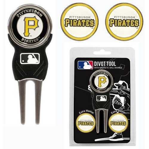 Pittsburgh Pirates Golf Divot Tool with 3 Markers Special Order