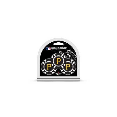 Pittsburgh Pirates Golf Chip with Marker 3 Pack - Special Order