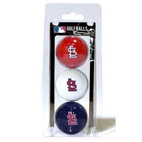 St. Louis Cardinals 3 Pack of Golf Balls