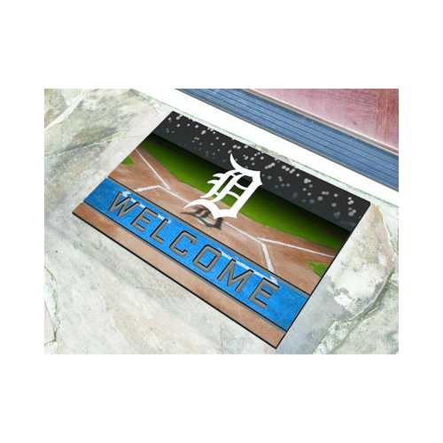 Detroit Tigers Door Mat 18x30 Welcome Crumb Rubber