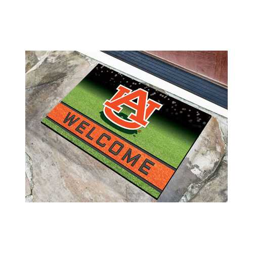 Auburn Tigers Door Mat 18x30 Welcome Crumb Rubber