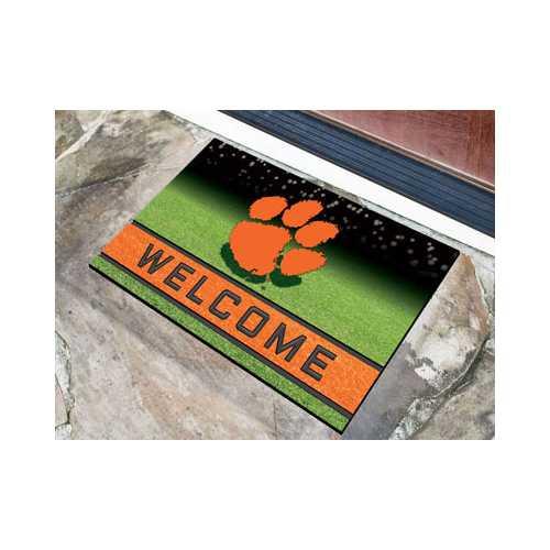 Clemson Tigers Door Mat 18x30 Welcome Crumb Rubber