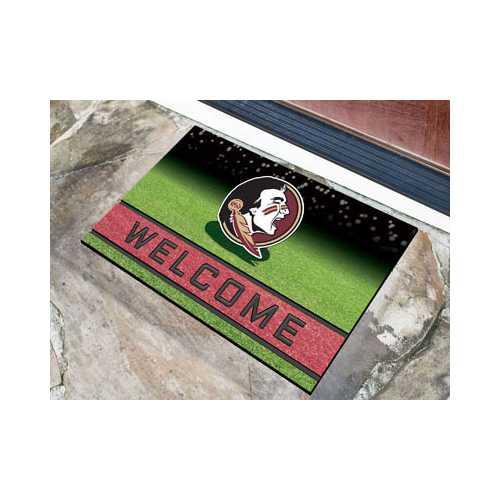 Florida State Seminoles Door Mat 18x30 Welcome Crumb Rubber