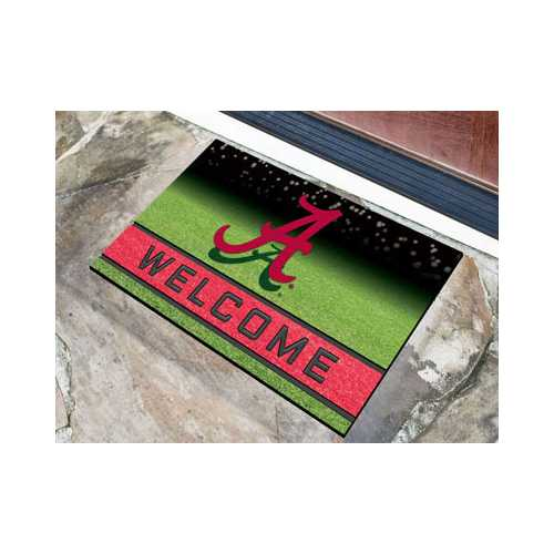 Alabama Crimson Tide Door Mat 18x30 Welcome Crumb Rubber