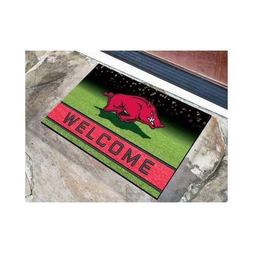 Arkansas Razorbacks Door Mat 18x30 Welcome Crumb Rubber