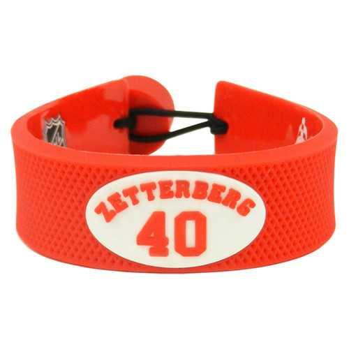 Detroit Red Wings Bracelet Team Color Jersey Henrik Zetterberg Design