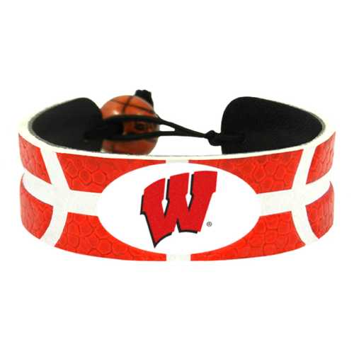 Wisconsin Badgers Team Color Basketball Bracelet