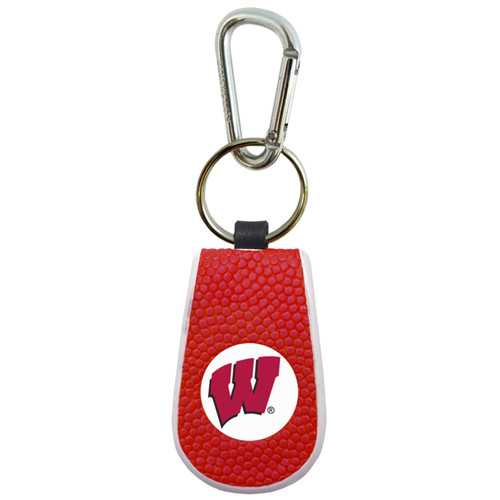 Wisconsin Badgers Team Color Basketball Keychain