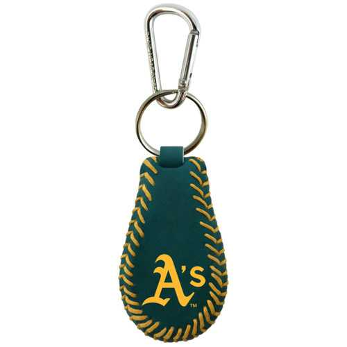 Oakland A's Team Color Baseball Keychain