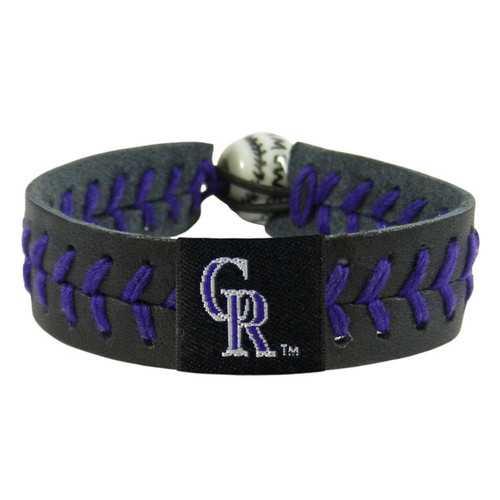 Colorado Rockies Bracelet Team Color Baseball