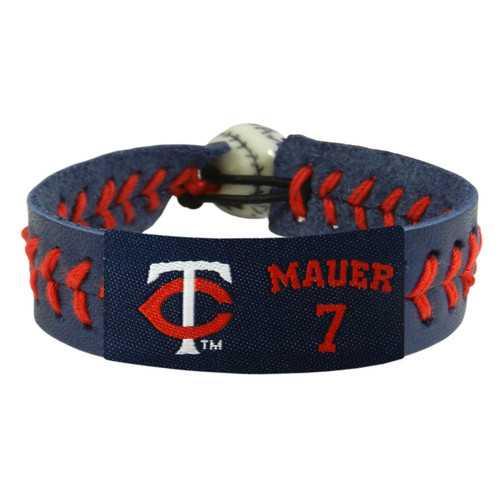 Minnesota Twins Bracelet Team Color Baseball Joe Mauer