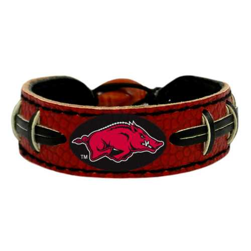 Arkansas Razorbacks Team Color Football Bracelet