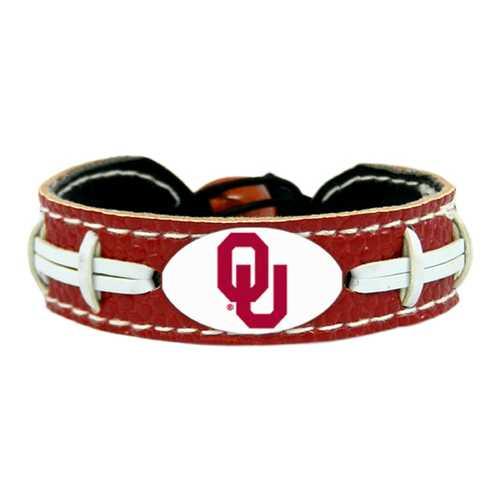Oklahoma Sooners Bracelet Team Color Football