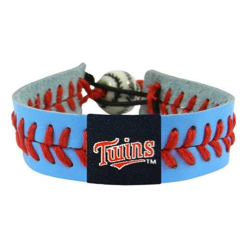 Minnesota Twins Bracelet Team Color Baseball Script Logo