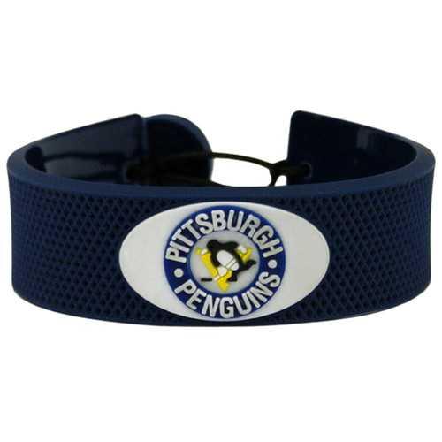 Pittsburgh Penguins Bracelet Team Color Hockey Vintage Logo