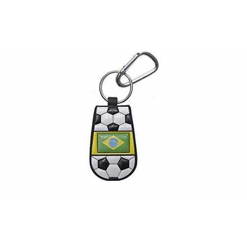 Brazilian Flag Keychain Classic Soccer