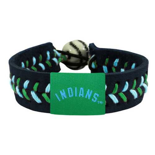 Cleveland Indians Bracelet Team Color Baseball Black