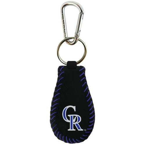 Colorado Rockies Keychain Team Color Baseball