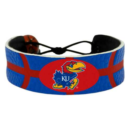 Kansas Jayhawks Bracelet - Team Color Basketball