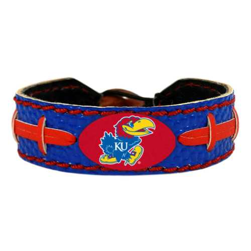 Kansas Jayhawks Team Color Football Bracelet