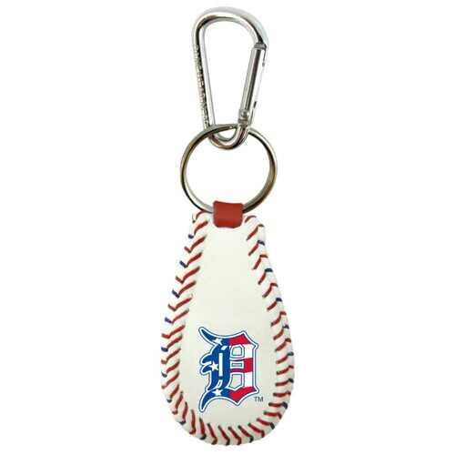 Detroit Tigers Keychain Baseball Stars and Stripes