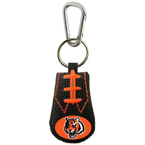 Cincinnati Bengals Keychain Team Color Football