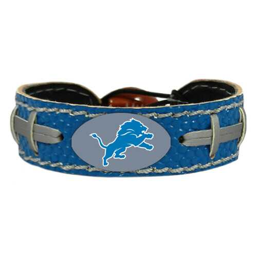Detroit Lions Team Color Football Bracelet