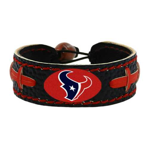 Houston Texans Team Color Football Bracelet