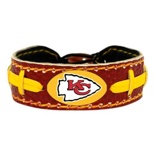 Kansas City Chiefs Bracelet Team Color Football