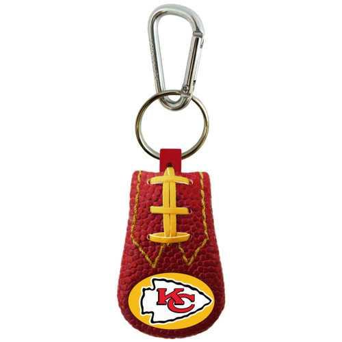 Kansas City Chiefs Keychain Team Color Football
