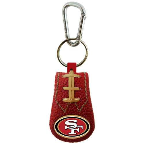 San Francisco 49ers Keychain Team Color Football