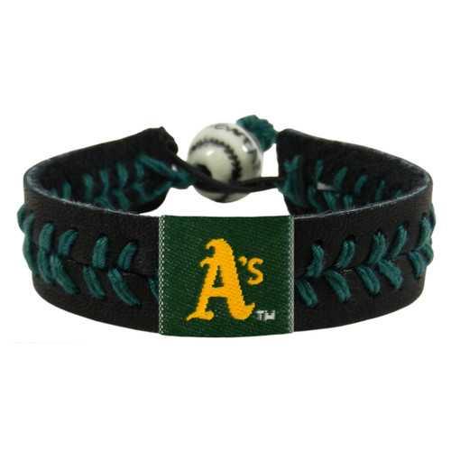 Oakland Athletics Bracelet Team Color Baseball Black