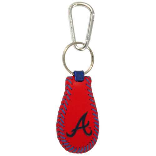 Atlanta Braves Keychain Team Color Baseball