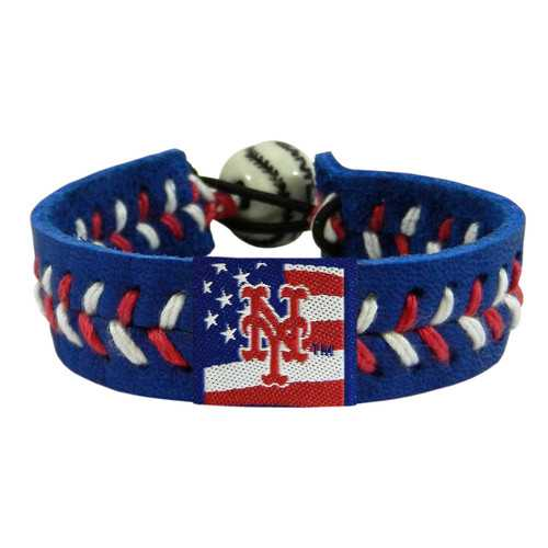 New York Mets Bracelet Team Color Baseball Stars and Stripes