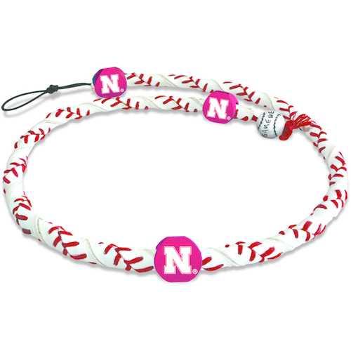 Nebraska Cornhuskers Classic Frozen Rope Baseball Necklace